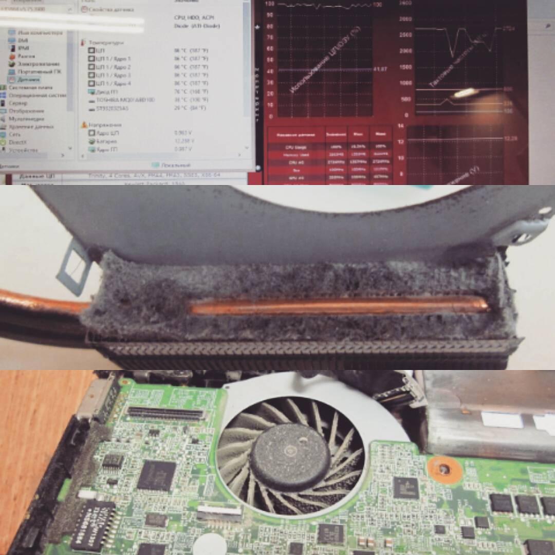 Лето, жара, ноутбук давно не проходил профилактику. Вот и результат – перегрев и аварийное отключение ноутбука. Не затягивайте с чисткой, пожалейте технику. #comandante #сервис